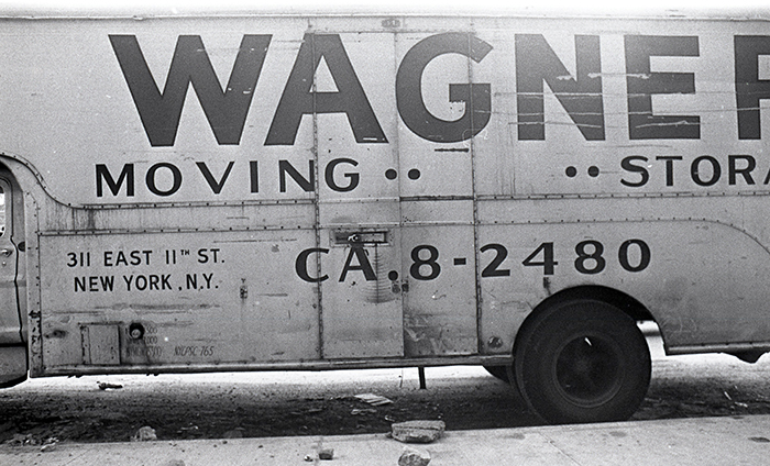 Wagner Moving & Storage van, side, New York City