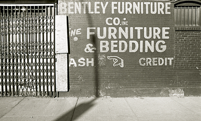 Bentley Furniture Co Inc. wall sign, E 11th Street, Lower East Side,