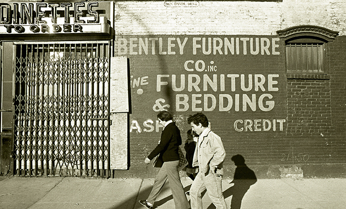Bentley Furniture Co Inc. Painted wall sign, Lower East Side, New York City